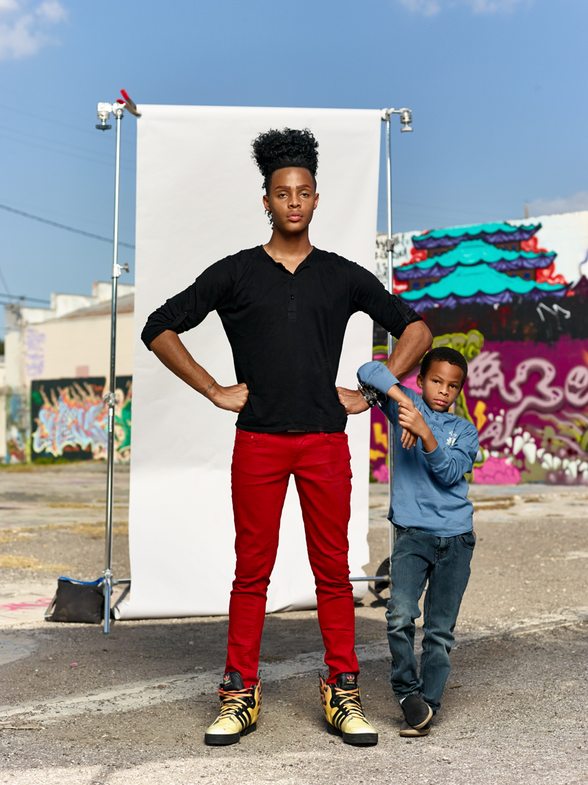 Drag Dad Superstar Tyra Sanchez and Jeremiah  |  Celebrity portrait Jeffery Salter