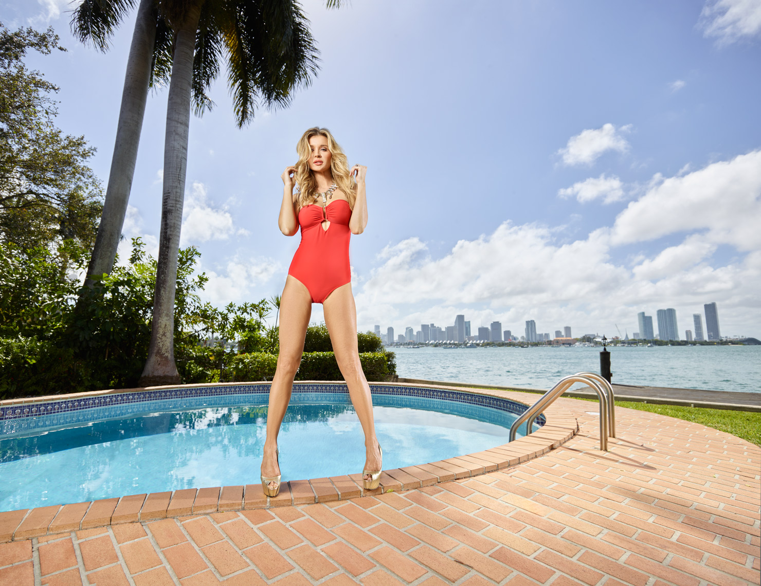 Swimsuit model on Miami Beach |