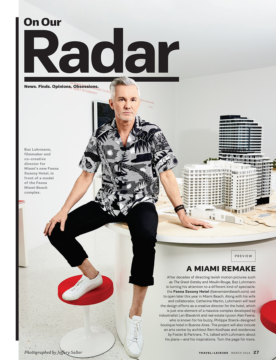 Baz Luhrmann |  Movie director  |  Miami portrait by Jeffery Salter