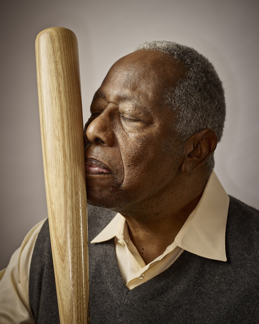 Hank Aaron | Baseball Icon  | Miami Advertising Photographer Jeffery Salter