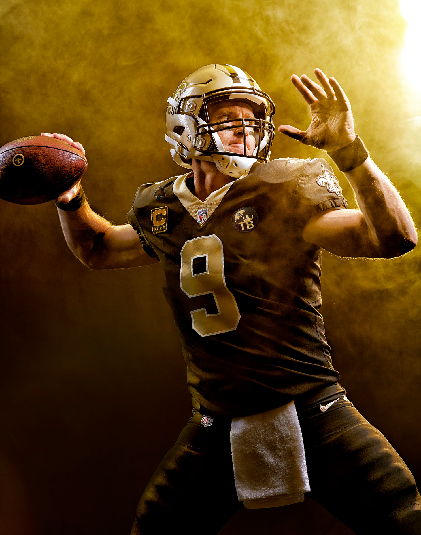 Drew Brees NFL Portrait