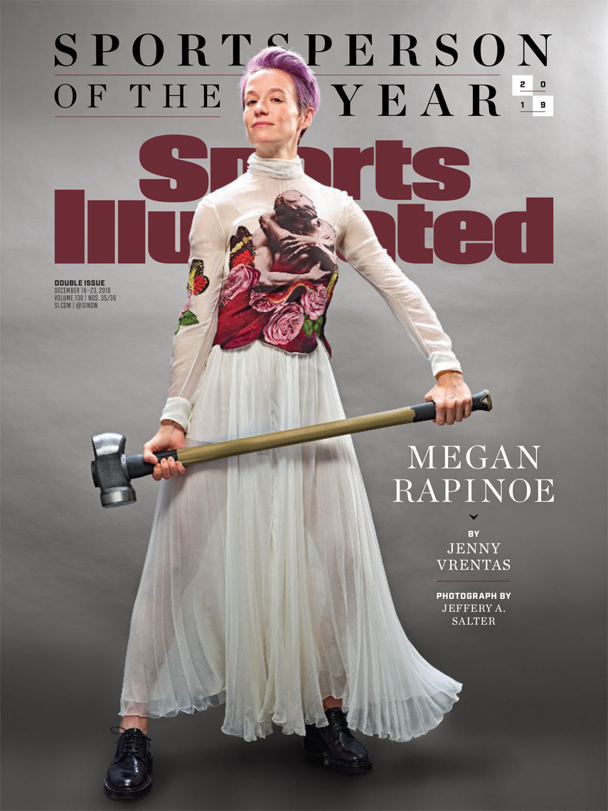 Megan Rapinoe | Sports Illustrated 2019 Athlete of the year | cover by Jeffery Salter photographer