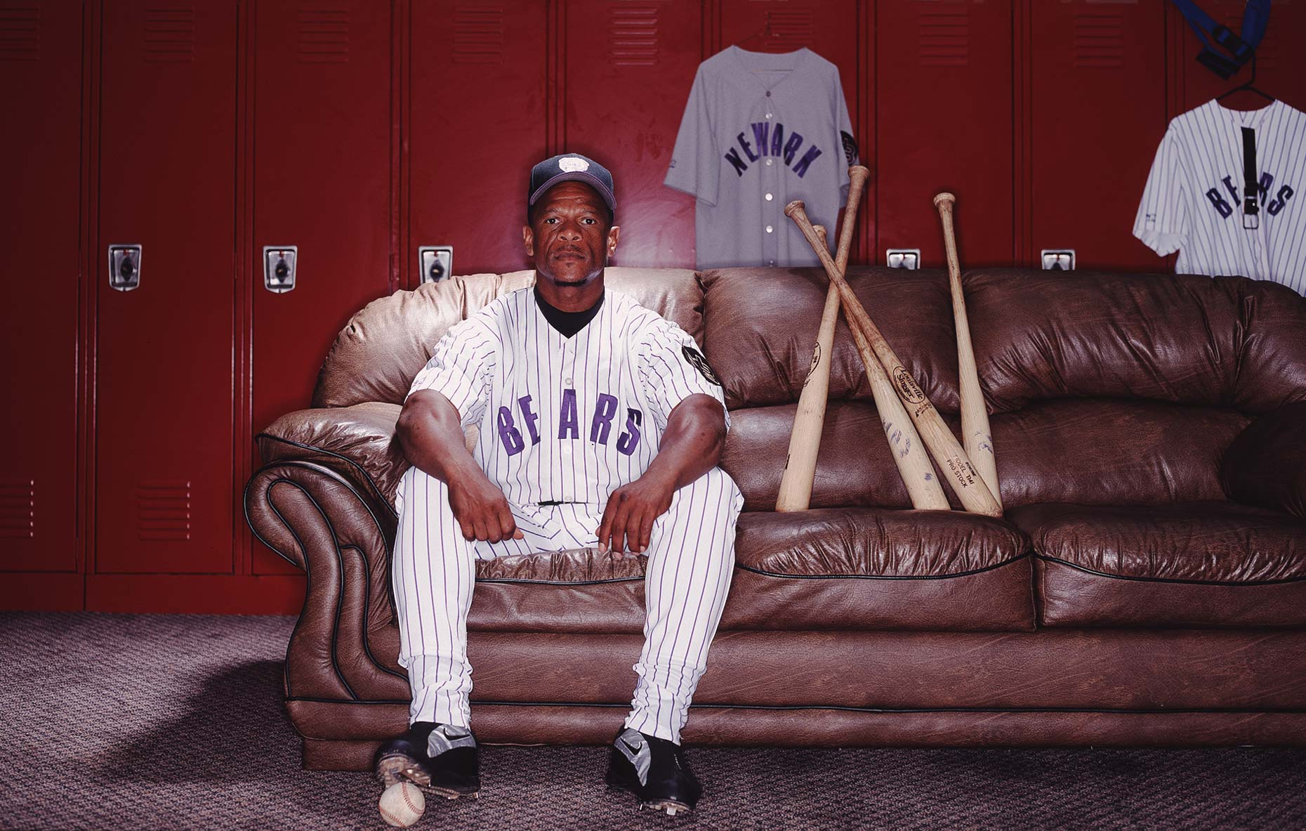 Ricky Henderson  |  Major League Baseball player  |   Sports portrait photographer Jeffery Salter